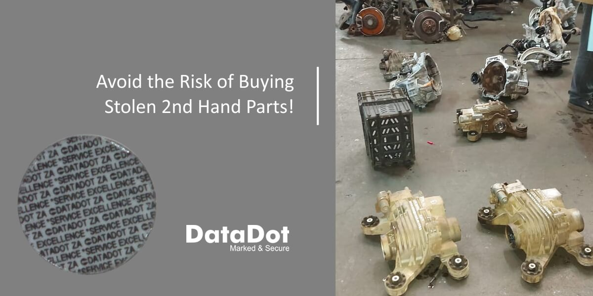 2nd Hand Vehicle Parts Identified with Microdots
