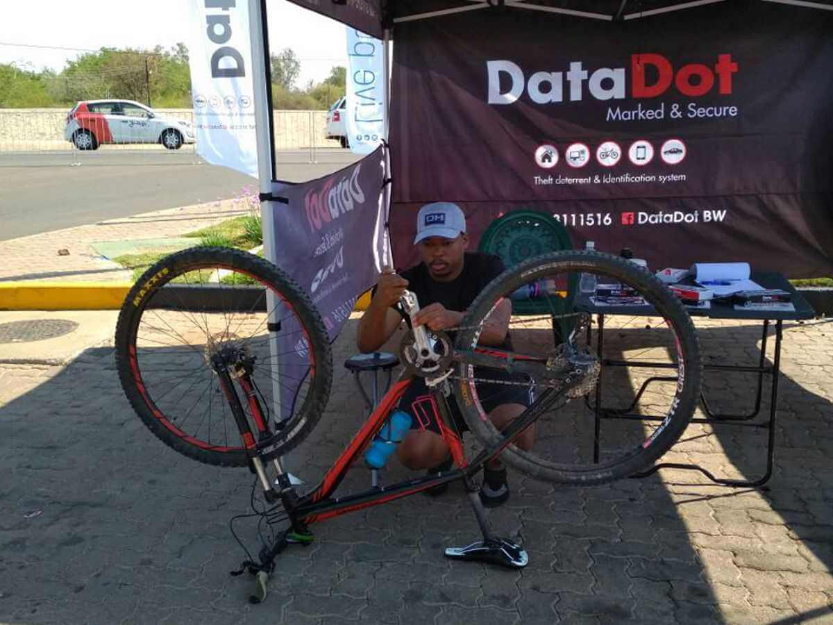 DataDot Botswana show Cyclists how to Protect their Bikes