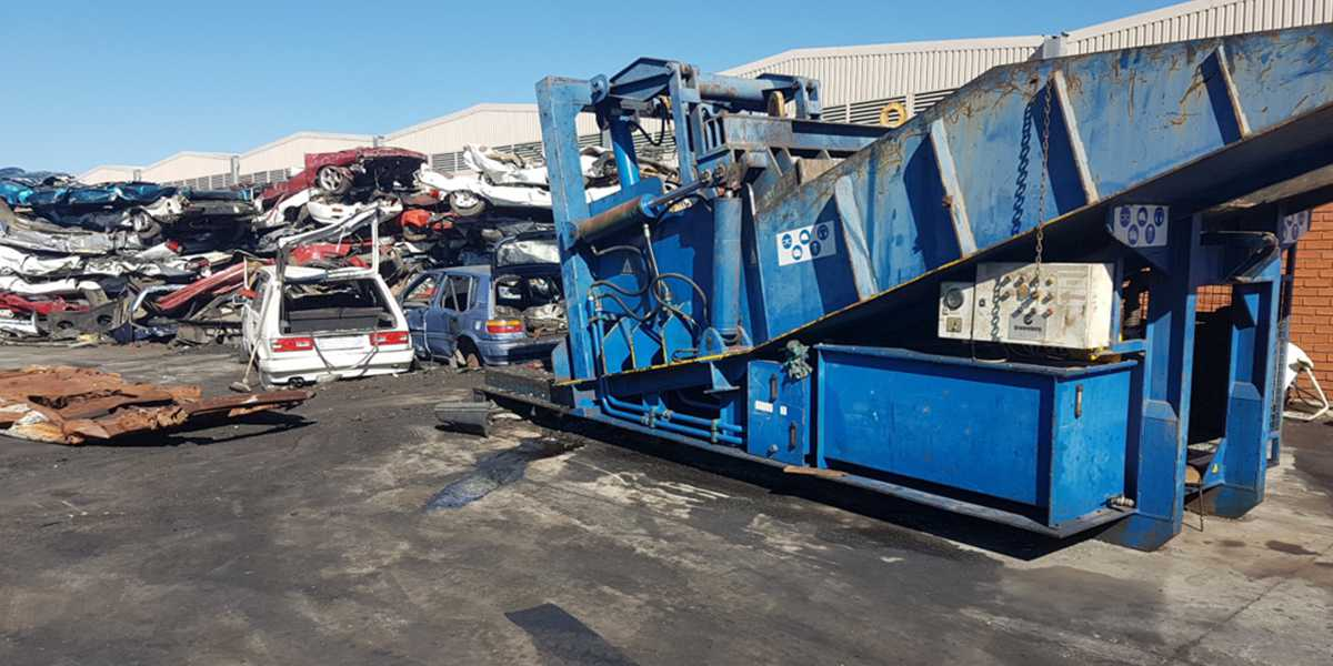 Crushed Vehicles at Local Pound