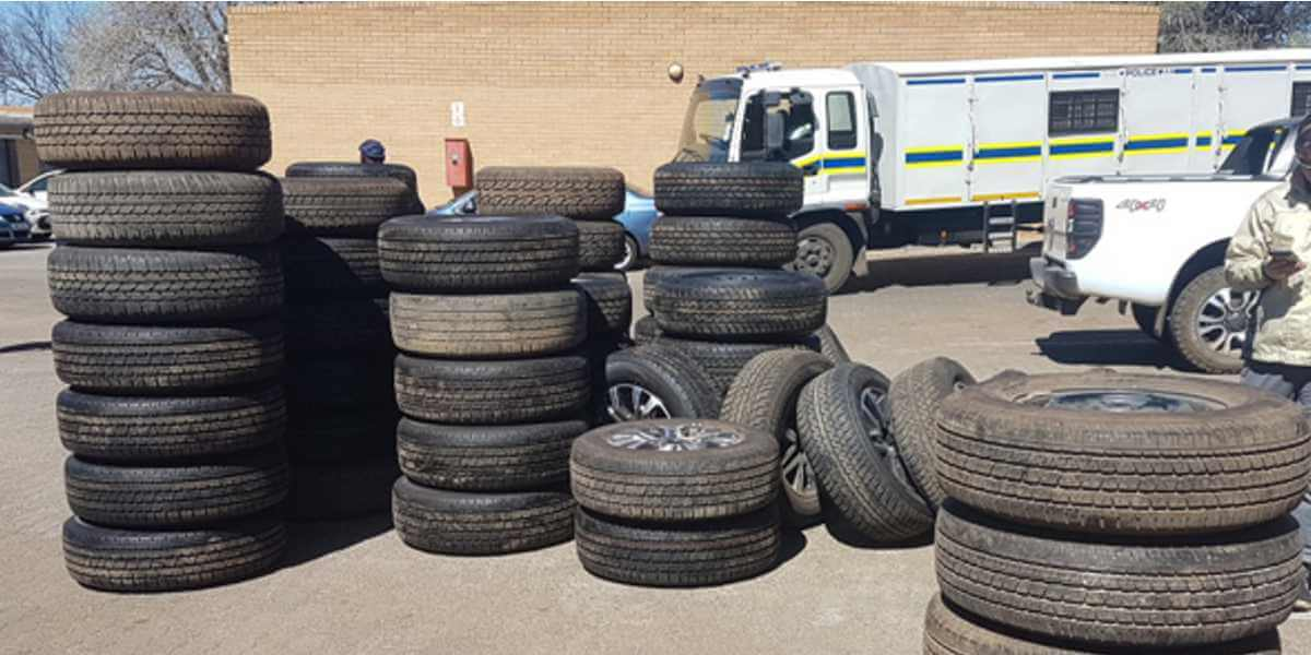 Stolen Tyres Identified with DataDot Microdot
