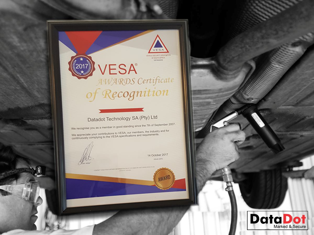 DataDotSA Receives Good Standing Award from VESA
