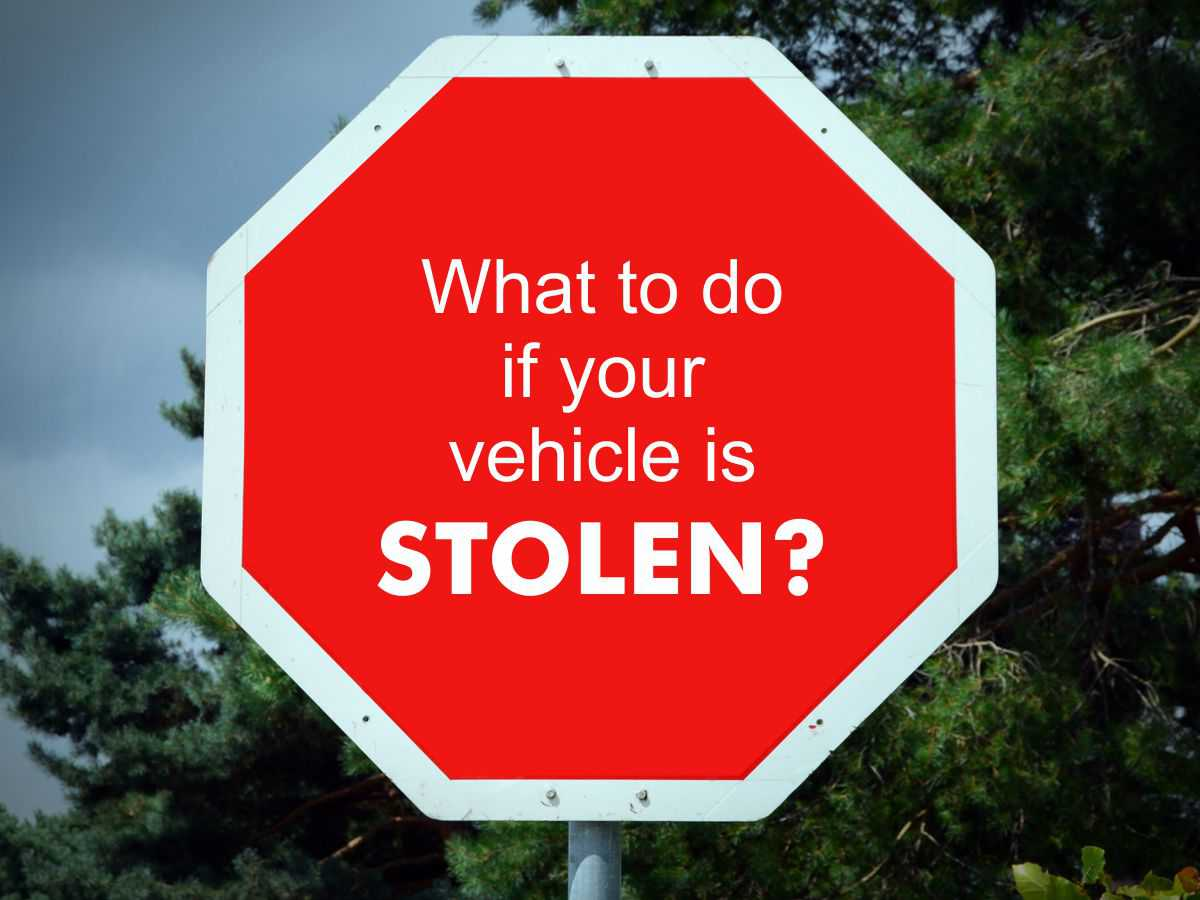 4 Useful Tips to Consider Should Your Vehicle Be Stolen!