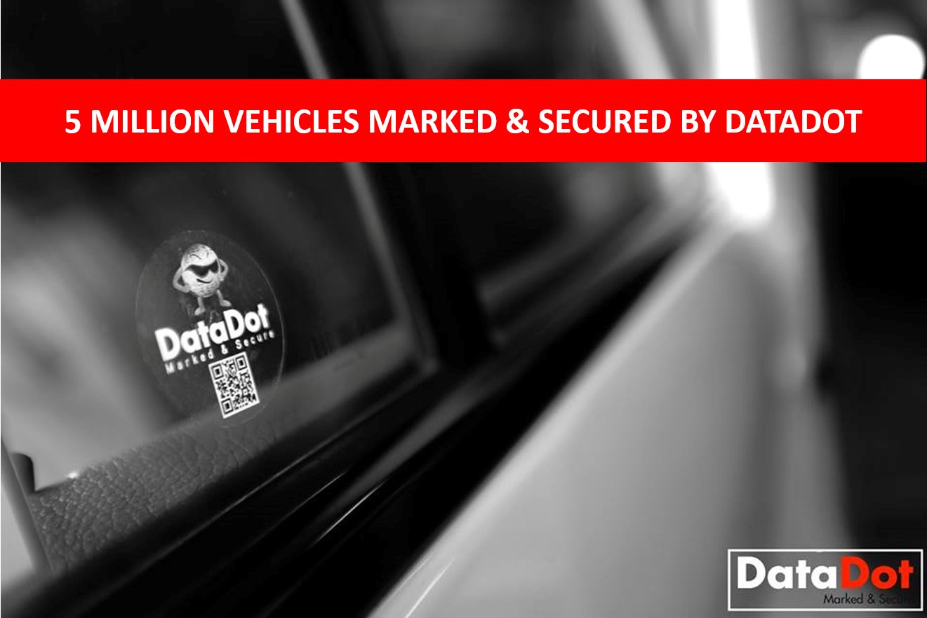 5 Million Vehicles Marked and Secured by DataDot